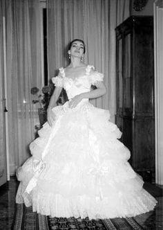 Maria Callas como Violetta da Ópera La Traviata de Verdi em 1958.