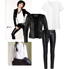 Minzy inspired by cuddlytao on Polyvore featuring polyvore, fashion, style, Uniqlo, ONLY, Yves Saint Laurent and COII