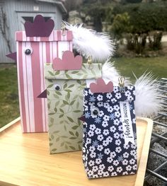 Hühnersackerl Gift Wrapping, Box, Gifts, Pop Up, Book Folding, Tutorials, Creative, Deco, Crafting