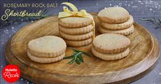 Made with Huletts Castor Sugar and a sprinkling of rosemary and salt, these shortbread cookies are the perfect blend of sweet and savoury. Shortbread Cookies, Kitchen Recipes, Camembert Cheese, Salt, Vegetarian, Sugar, Treats, Baking, Rock