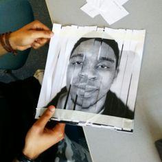 Weaving cut up portraits Cut Up, Weaving, Students, Polaroid Film, College, Portraits, Animation, Building, Cards