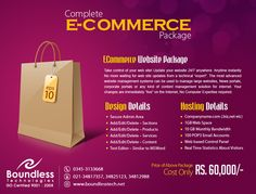 Boundless Technologies (Pvt) Ltd develop ecommerce websites in Magneto, woo-commerce and virtue mart CMS. Do contact us now for creating a vibrant looking website for your ecommerce business!