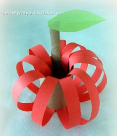 поделка яблоко из бумаги детская