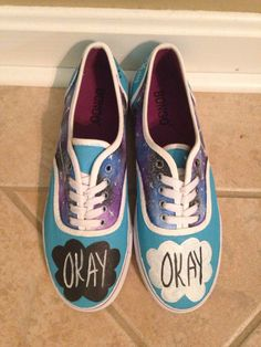 Hand painted canvas shoes inspired by The Fault in Our Stars  Dont see your size? Just contact me and I will make it available $41 size 9 want: 6/10