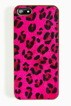 Pony Hair iPhone 5 Case - Pink Leopard