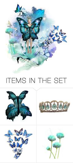 """""""The Butterfly Queen"""" by belladicaprio ❤ liked on Polyvore featuring art, purple, Blue, GREEN and butterfly"""