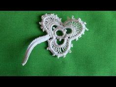 À Shamrock in Irish Crochet Lace. A scalloped Shamrock in Irish Crochet lace.