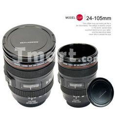 Multi-functional 24-105mm 4L Camera Lens Shaped Coffee Mug Cup,$12.86