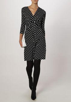 Sukienka z dżerseju - black/white - Zalando.pl