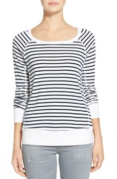 Free shipping and returns on Splendid 'Venice Stripe' Sweatshirt at Nordstrom.com. Slender stripes pattern a supersoft, sporty sweatshirt perfect for those casual-chic days. A scooped neckline, long raglan sleeves and wide, solid bands at the cuffs and hem round out this relaxed look.