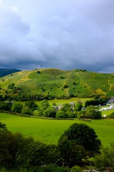 The rolling green hills of Llangollen, North Wales - Dave used to camp here, and fly fish in the River Dee.  Lovely.  Reminds me a little of the Colorado mountains.  Not as big, but the same cool, rainy weather, hilly towns, and roads with switchbacks. RW
