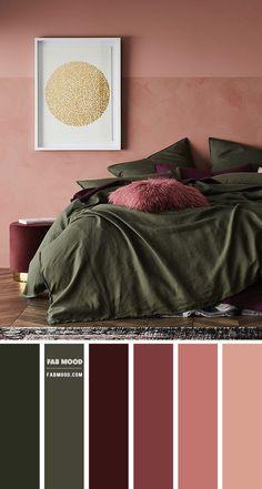 Plum Bedroom, Bedroom Green, Home Bedroom, Bedroom Decor, Bedroom Colour Palette, Bedroom Color Schemes, Warm Bedroom Colors, Colour Combination For Bedroom, Best Colour For Bedroom