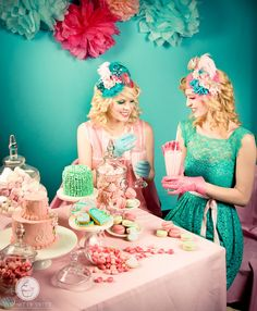 Kenzie's 6th birthday will be a mad tea party..I like these colors