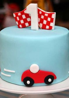Race Car Birthday! think this would make a nice cake for connor