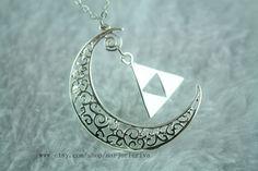 The Legend of Zelda jewel: Triforce New Moon #Nintendo #geekfashion #jewelry