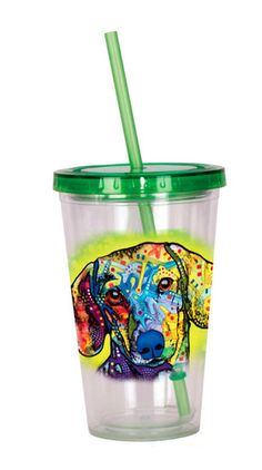 Dachshund Tumbler – Double Walled Acrylic 16 Ounces