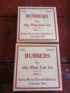 2 Boxes Vintage Altlas Rubbers for Atlas Whole Fruit Jars