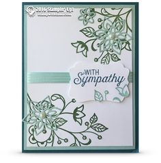Sympathy Stampin Up Flourishing Phrases Card