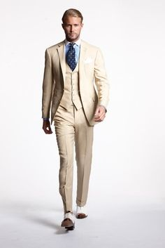 #10 Ralph Lauren SS 2013 men's 3 piece suit stylized like the boys eton suit from the Romantic Period, apart from the squared center front.