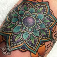inkyknuckels:mandala-flower-mandala-color-tattoo-coverup-pattern ...