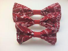 Pet Bow Tie - Classic Bandana Print - Over the Collar - Custom by HemptressDesigns on Etsy