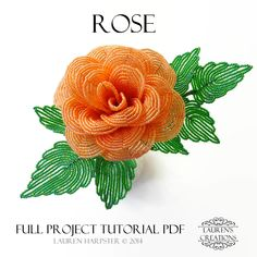 Try your hand at making your very own french beaded roses! Whether you are looking to create a unique handmade gift, or to decorate your home with luxurious beaded flowers, this tutorial is the perfect guide. There are also patterns for a smaller rose and ...