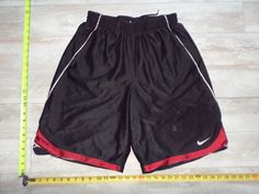 Nike Basketball Shorts Mens Size L Large Black Athletic Fitness Soccer Red Gym #Nike #Shorts