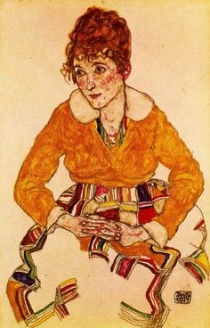 Egon Schiele - Portrait of the Artist's Wife (Edith Schiele), 1917