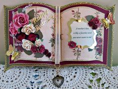 Mother's Day Bookatrix by sticklelover - Cards and Paper Crafts at Splitcoaststampers Pretty Cards, Cute Cards, Wedding Anniversary Cards, Wedding Cards, Crafters Companion Cards, 100th Birthday Card, Card Book, Shaped Cards, Easel Cards