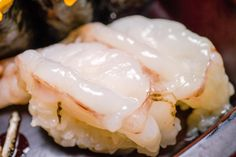 Amaebi sweet shrimp from Ten Sushi @tensushiseattle in #seattle - #imenehunes #food #yum #delicious #japanesefood #sushi #sushiroll #sweetshirmp #amaebi #tensushi