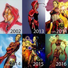 Okira Through The Years by gemgfx on DeviantArt