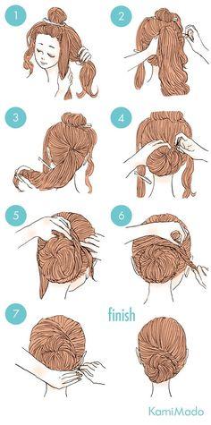 coque elaborado - http://passaneura.com/cabelos/50-penteados-para-fazer-sozinha/