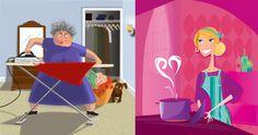 Haftanın lilaları :) Tabii ki ev işlerini sevmiyoruz, ama biri sizin için daha zevkli, biri de çekilmez olmalı…