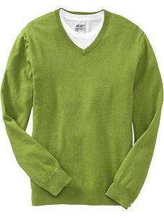 Men's Lightweight V-Neck Sweaters   Old Navy