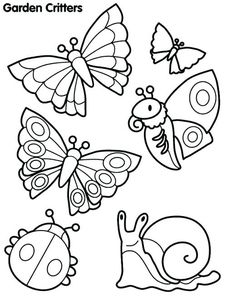Butterflies To Color Color In With Your Watercolors Just Don T
