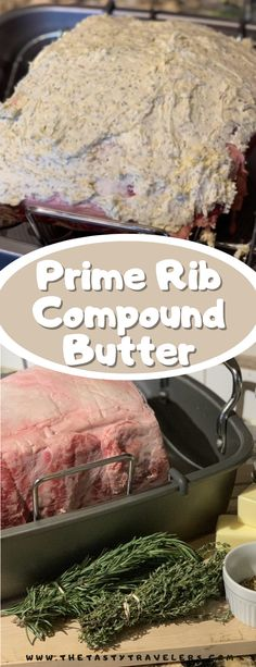 This is the best compound butter for prime rib! Check out all the details in the post! Prime Rib Recipe Oven, Ribs Recipe Oven, Easy Homemade Recipes, Delicious Recipes, Tasty, Beef Recipe Instant Pot, Multi Cooker Recipes, Christmas Food Treats, Rib Recipes