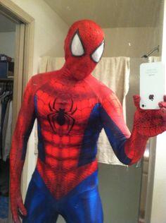 Spiderman costume cosplay lens tutorial