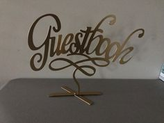 """Beautiful Gold """"Guestbook"""" Sign to highlight the location of your guestbook!"""