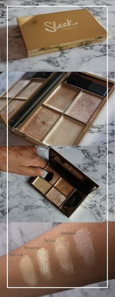 http://nicesweetsia.blogspot.co.uk/2017/03/beauty-review-sleek-highlighting.html Highlighting Palette Cleopatra's Kiss product review. #beauty #makeup #make #up #highlight #highlighter #review #product #face #skin