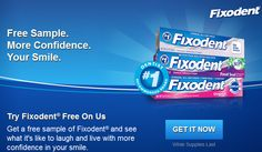 FACEBOOK FREEBIE $$ FREE Sample of Fixodent Free – Still Available!