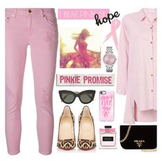 """I Wear Pink for.....HOPE"" by mrsjillc ❤ liked on Polyvore featuring MICHAEL Michael Kors, Christian Louboutin, Prada, Victoria Beckham, Casetify and IWearPinkFor"