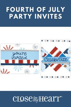 We have everything you need to make stunning Fourth of July party invitations! #crafting