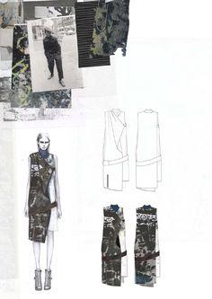 fashion portfolio Westminster amy dee by - fashion Fashion Design Sketchbook, Fashion Design Portfolio, Fashion Design Drawings, Fashion Sketches, Fashion Illustrations, Croquis Fashion, Fashion Collage, Fashion Art, Illustration Mode