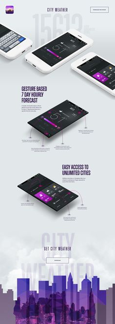 Dribbble - by Rally Interactive (via Ben Cline) web design Web Design Mobile, Web Ui Design, Design City, Gui Interface, User Interface Design, Mobile Ux, Conception D'applications, Ui Design Inspiration, Design Ideas