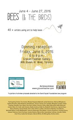 Excited to be a part of this art show in Toronto! Grand opening is next Friday, June 5th. Come and join us for a lovely evening!