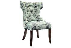 Rivoli Side Chair, Seafoam on OneKingsLane.com