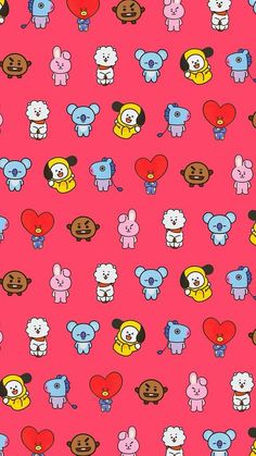 New Ideas For Cookies Pattern Bear Wallpaper, Kawaii Wallpaper, Pattern Wallpaper, Iphone Wallpaper, Bts Backgrounds, Cute Wallpaper Backgrounds, Cute Wallpapers, Blackpink And Bts, Line Friends