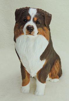 Australian Shepherd dog sculpture – Cavacast Pet Portraits & Sculpture