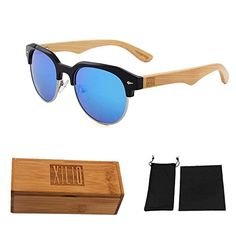 XLO REVO Polarized IceBlue Bamboo Temple Sunglasses MenWomen -- You can find more details by visiting the image link.Note:It is affiliate link to Amazon.