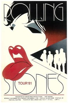 Rolling Stones concert poster.. love the design